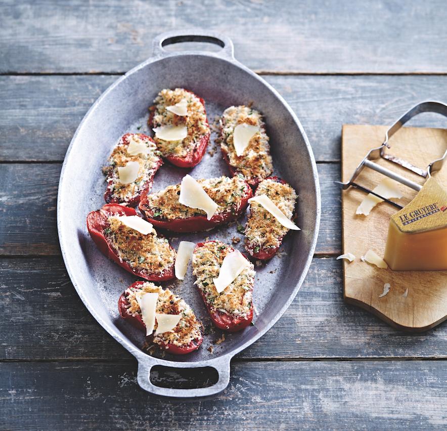 gegrilde tomaat met gruyere kaas